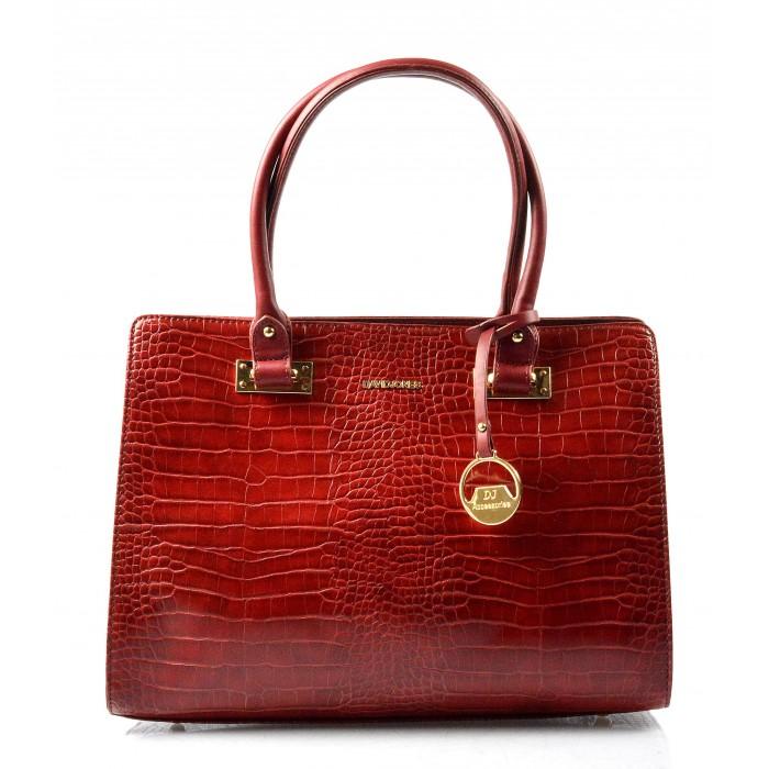 Elegantní červená kabelka do ruky Dafne