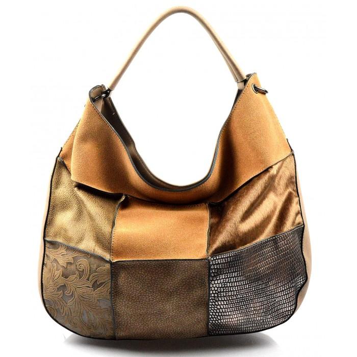 béžová luxusní kabelka Italien Valeria 20363