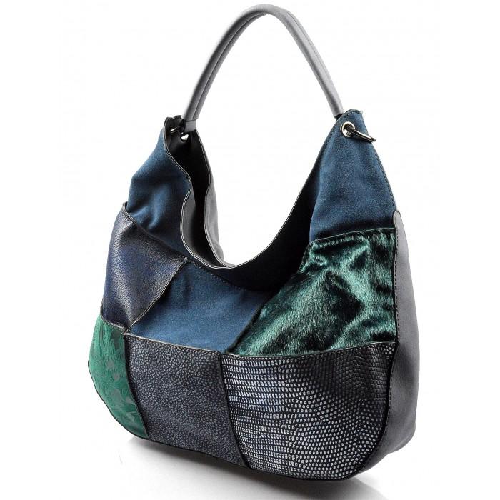 modrá luxusní kabelka Italien Valeria 20369