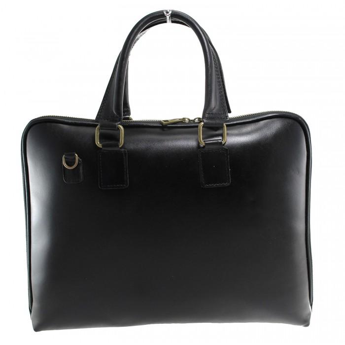 Kožená černá kabelka do ruky michel VERA PELLE 20521