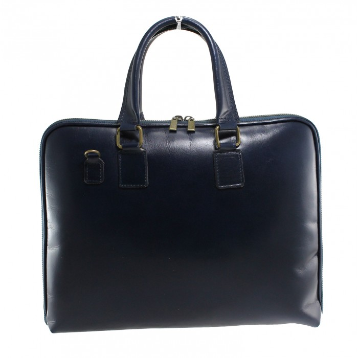 Kožená modrá kabelka do ruky michel VERA PELLE 20527