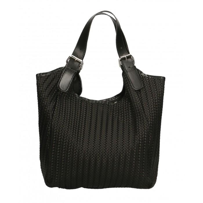 Kožená černá taška na rameno astrid VERA PELLE 22305