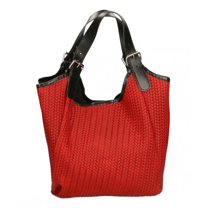 Kožená červená taška na rameno astrid VERA PELLE 22309