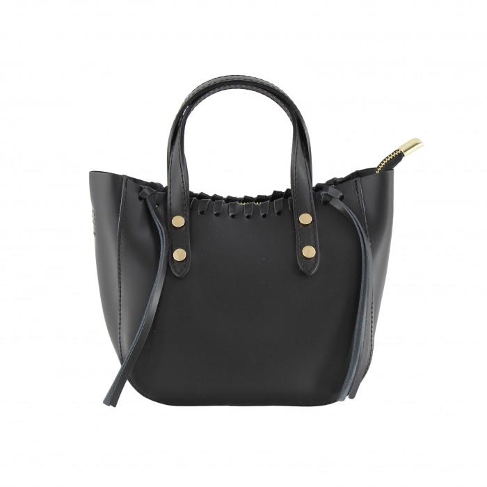 Kožená černá malá kabelka do ruky celine VERA PELLE 23871
