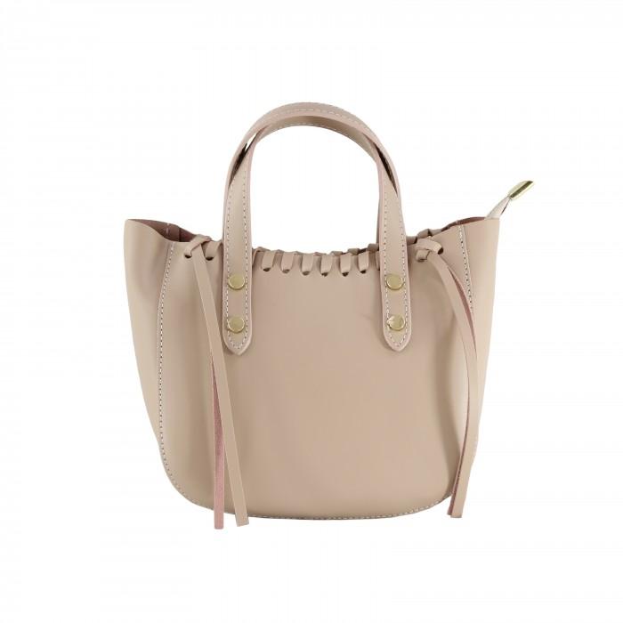 Kožená růžová malá kabelka do ruky celine VERA PELLE 23877