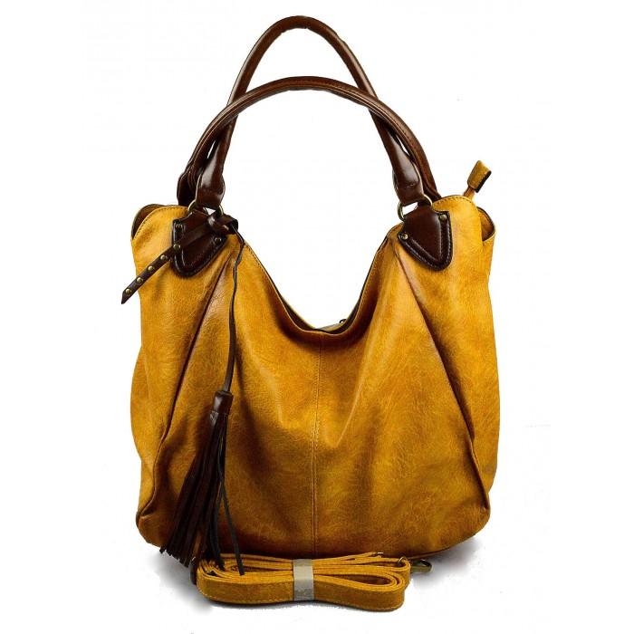 netradiční hořčicově žlutá shopper taška different two