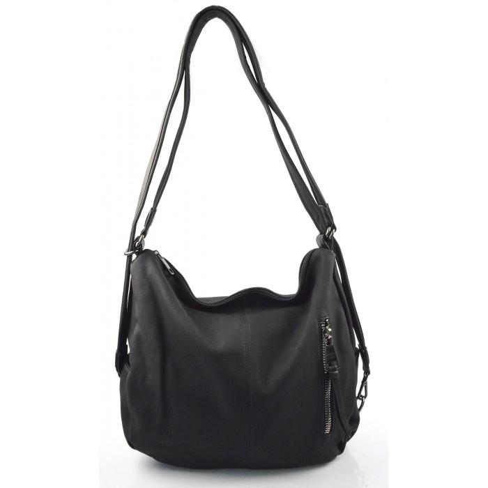 Praktická černá kabelka a batůžek v jednom Marry two - KabelkyZeSveta b13b25b05aa