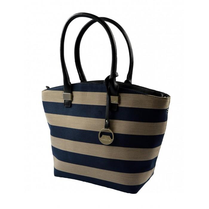 Barevná kabelka s modrými pruhy Alice
