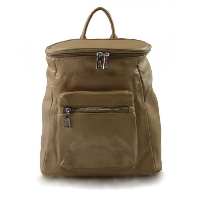 Dámský menší světle hnědý batoh Simi Marlen 11009