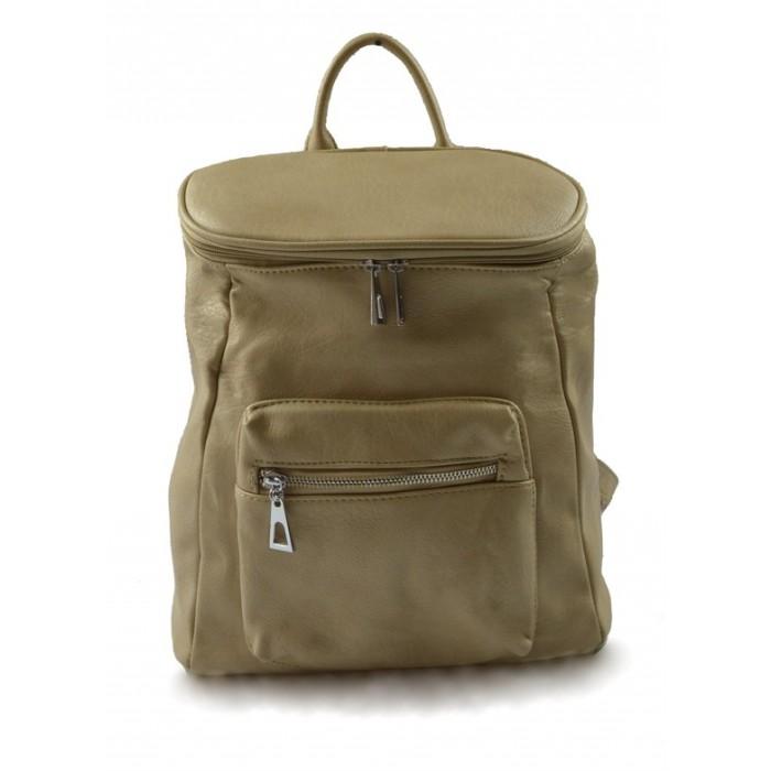Dámský menší béžový hnědý batoh Simi Marlen 11010
