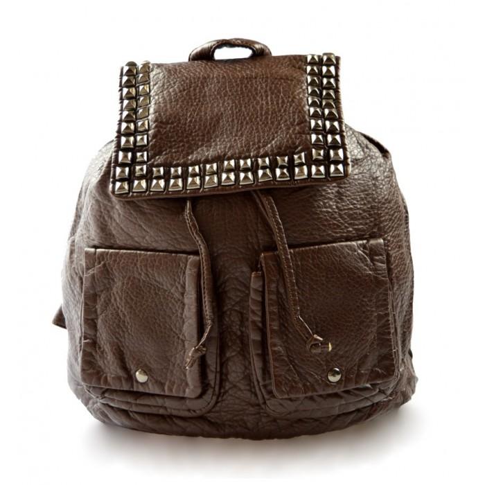 Dámský šusťákový hnědý batoh Criss Marlen 11024