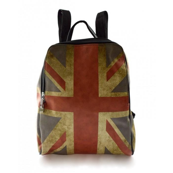 Dámský hnědý batoh s černými doplňky Englis Marlen 11014