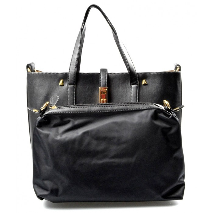 černá elegantní kabelka Mires 2v1 David Jones 11309 Sleva 38%