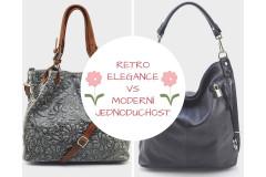 Retro elegance vs moderní jednoduchost