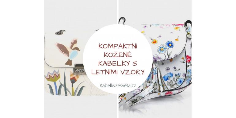 Kompaktní kožené kabelky s letními vzory