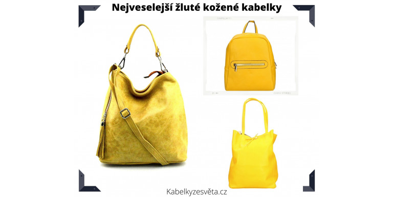 Nejveselejší žluté kožené kabelky