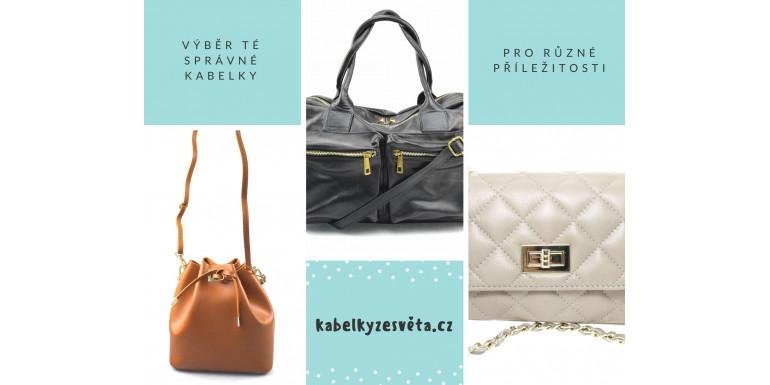 Výběr té správné kabelky pro různé příležitosti