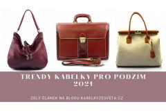 Trendy kabelky pro podzim 2021
