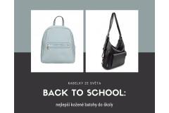 BACK TO SCHOOL: nejlepší kožené batohy do školy