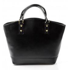 Kožená luxusní velká černá kabelka Clasic