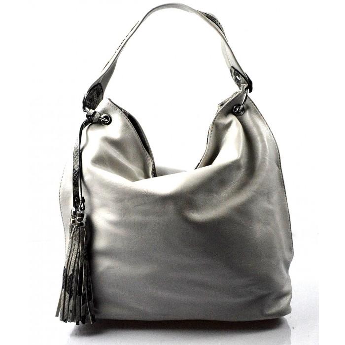 moderní světle šedá kabelka na rameno evo