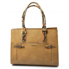 Elegantní hnědá kabelka do ruky Aleta