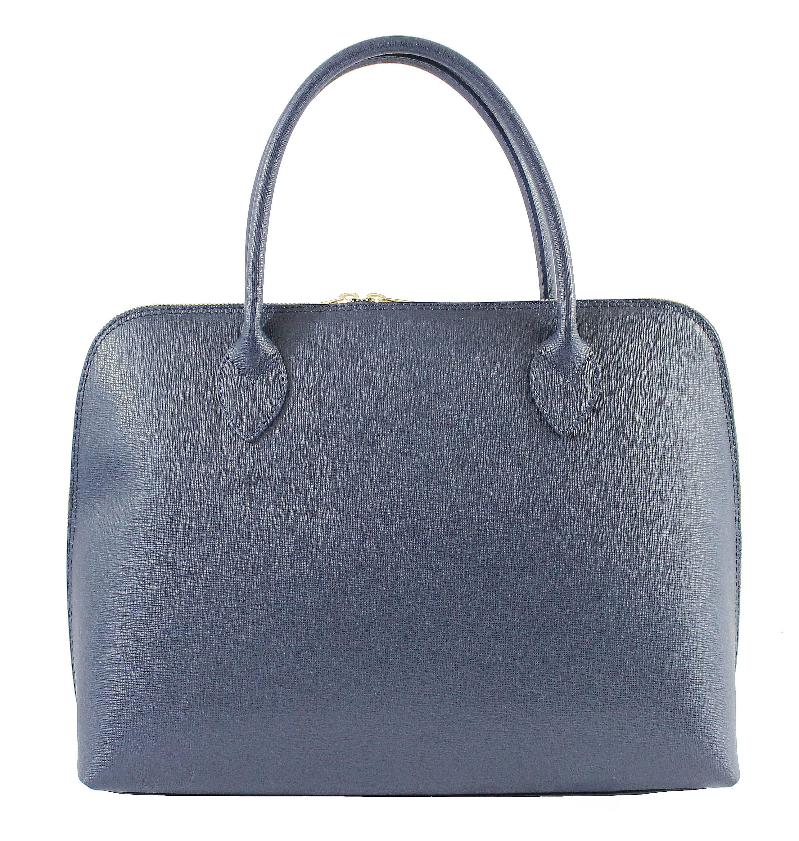 Kožená tmavě modrá kabelka do ruky agi