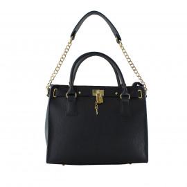 Kožená luxusní modrá kabelka do ruky francesi