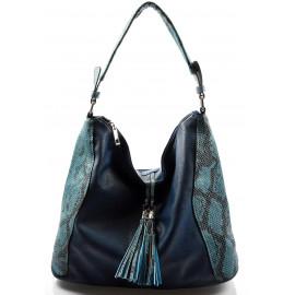 moderní tmavě modrá kabelka na rameno Crossi