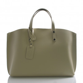 Kožená béžová velká taška Tanie 2v1