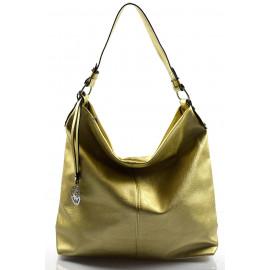 Elegantní zlatá kabelka na rameno beata