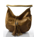 Elegantní hnědá crossbody kabelka na rameno Eris