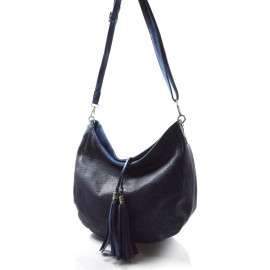 Elegantní tmavě modrá crossbody kabelka na rameno Eris