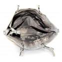 Duhová moderní lesklá šedá se zlatou kabelka na rameno Rosalinda