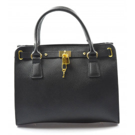 Kožená luxusní černá kabelka do ruky francesi
