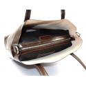 Kožená praktická tmavě hnědá velká taška Evita 2v1