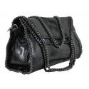 Kožená luxusní černá kabelka přes rameno brigite
