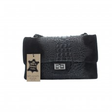 Kožené černé psaníčko limet