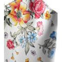 Kožená luxusní květinová s tyrkysovou crossbody kabelka Royal flower