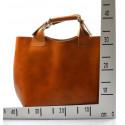 Kožená tmavě modrá shopper taška do ruky 2v1 sandi