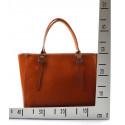 Kožená luxusní velká červená bordó kabelka Havelan
