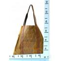Kožená velká krokodýlí šedá taška na rameno janesi 2v1