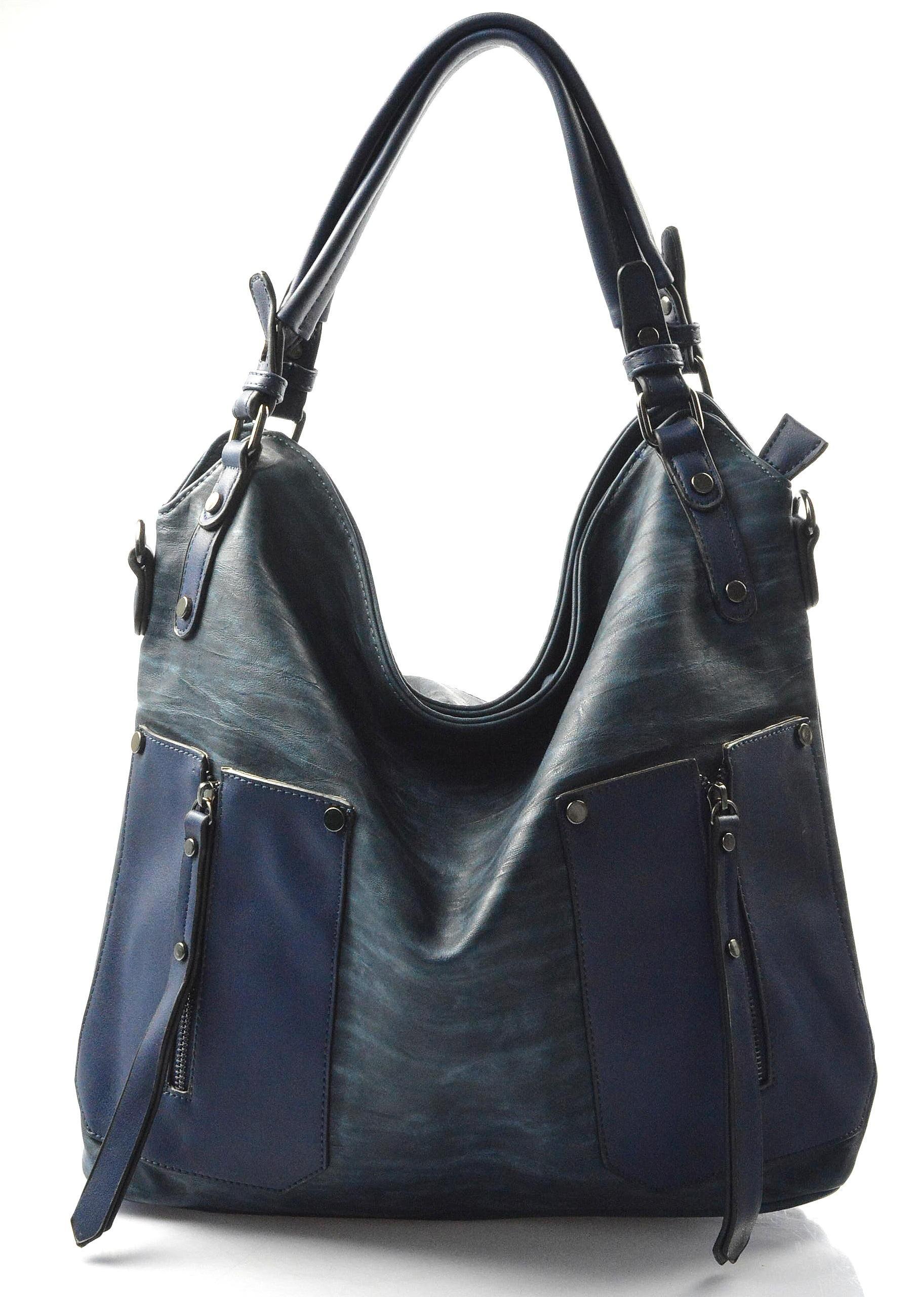 moderní tmavě modrá kabelka miss