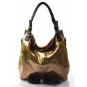 moderní lesklá zlatá kabelka na rameno angelica