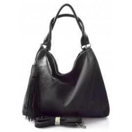 černá designová kabelka Mix two