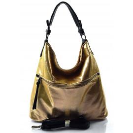 moderní lesklá zlatá kabelka na rameno guliana