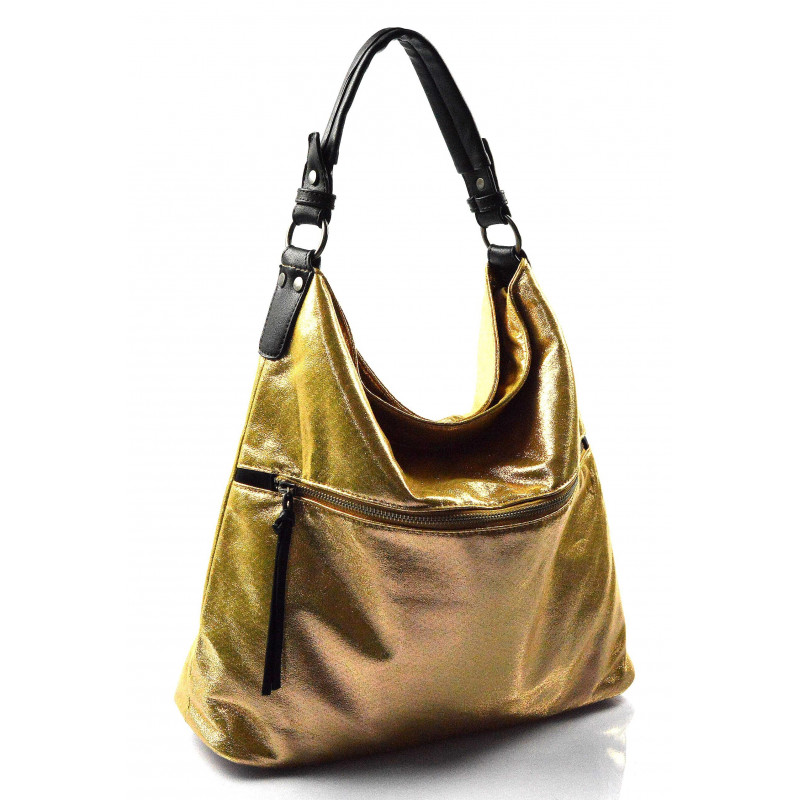 a95cd53fa1 moderní lesklá zlatá kabelka na rameno guliana - KabelkyZeSveta