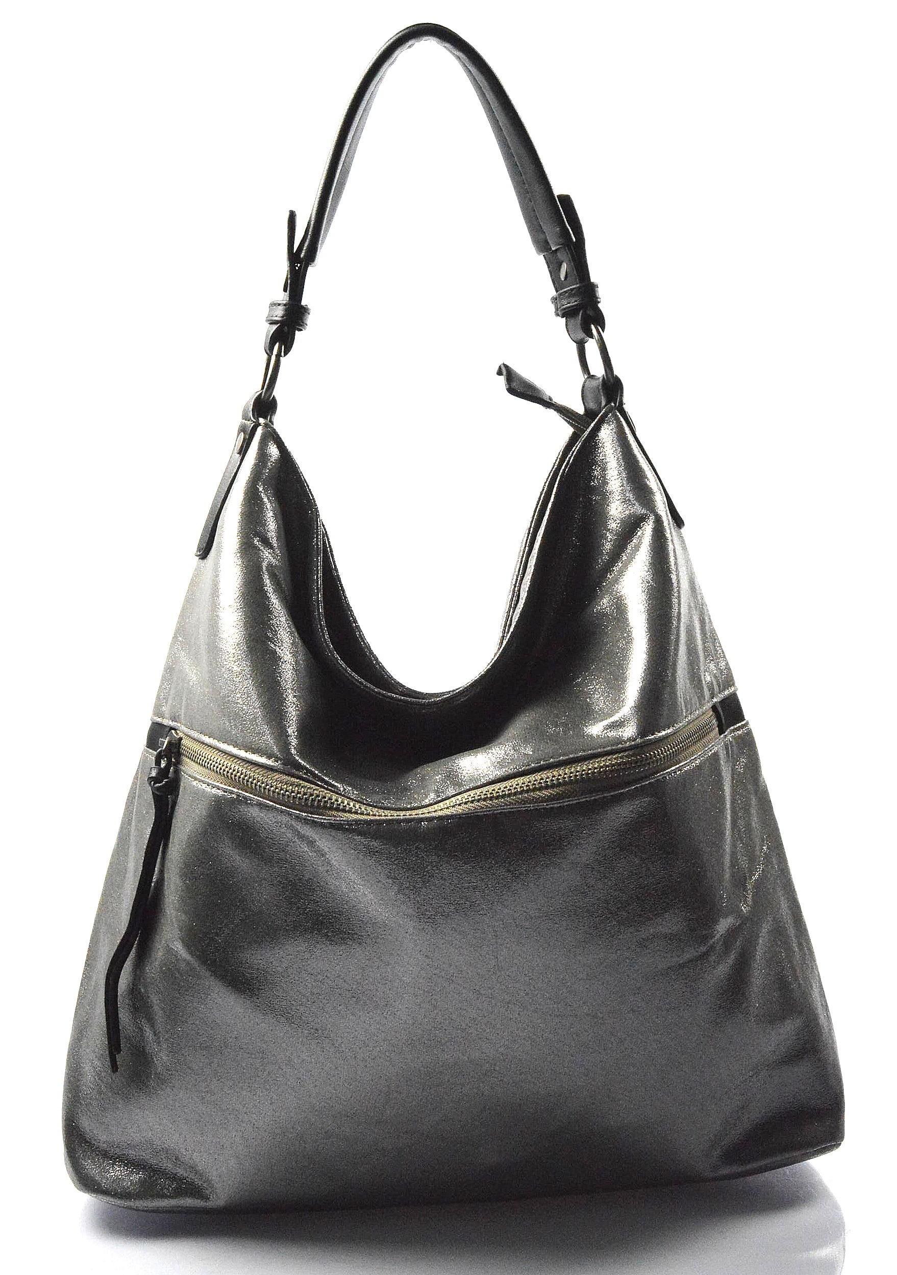 71cfd6807c moderní lesklá šedá se stříbrnou kabelka na rameno guliana ...