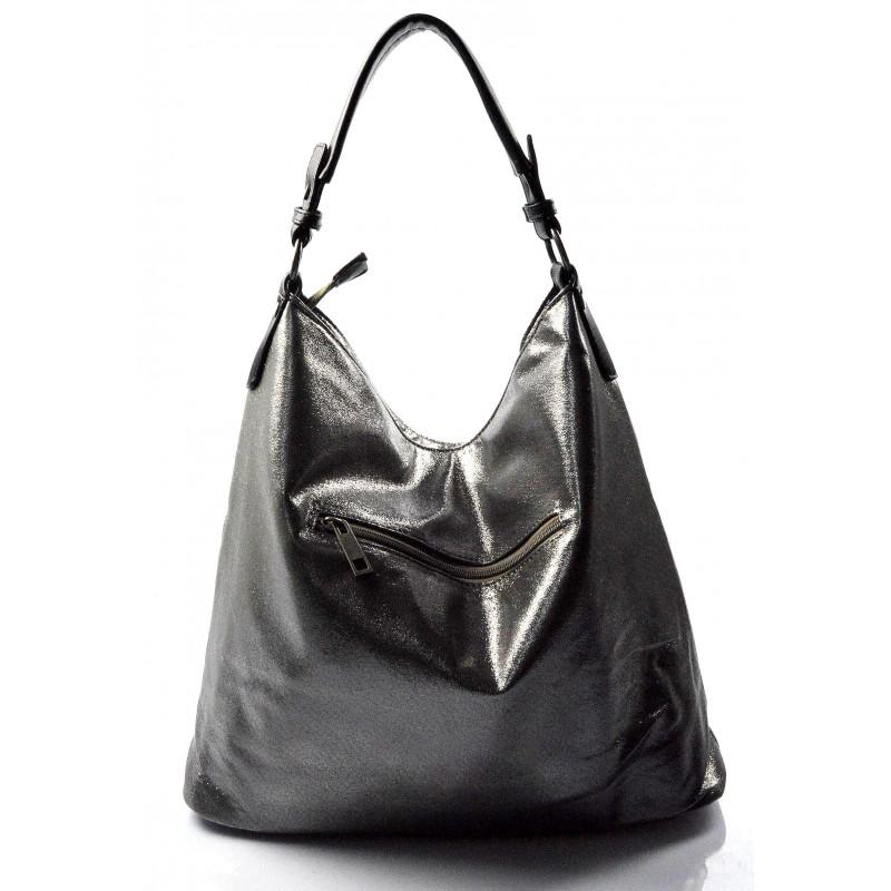 0089bcc081 ... moderní lesklá šedá se stříbrnou kabelka na rameno guliana ...