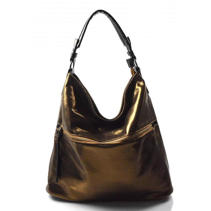 moderní lesklá bronzová kabelka na rameno guliana af3b36f4f33